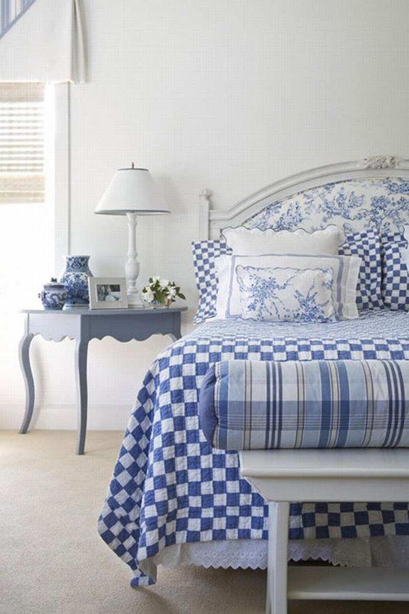 blue and white bedroom decorating ideas photo - 1