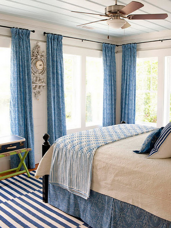 blue and white bedroom decorating ideas photo - 4