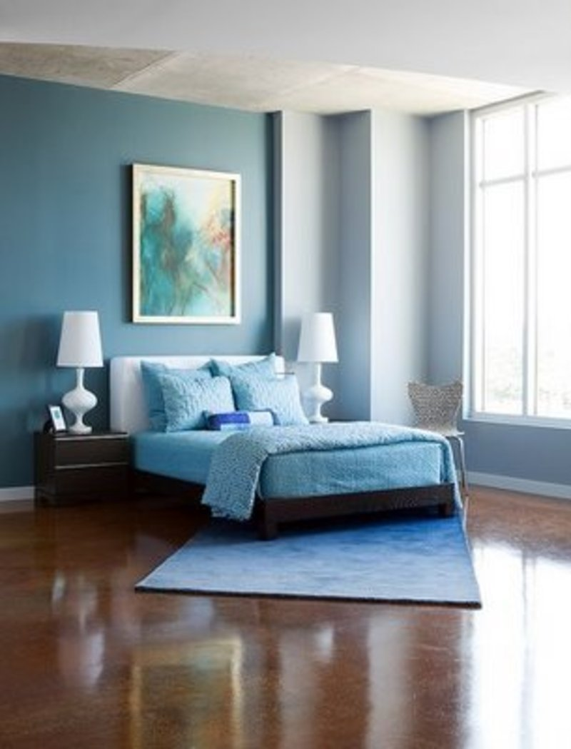 blue and white bedroom decorating ideas photo - 5