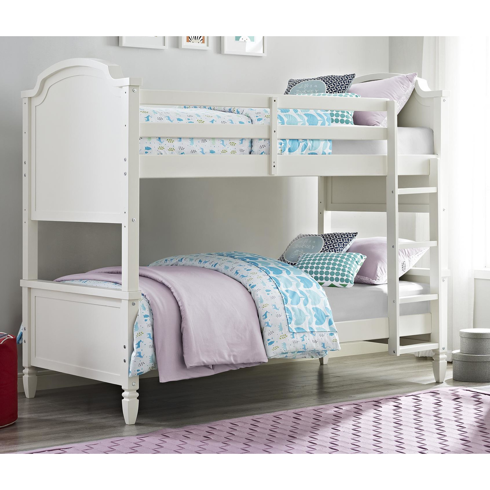 blue and white bedroom furniture photo - 5