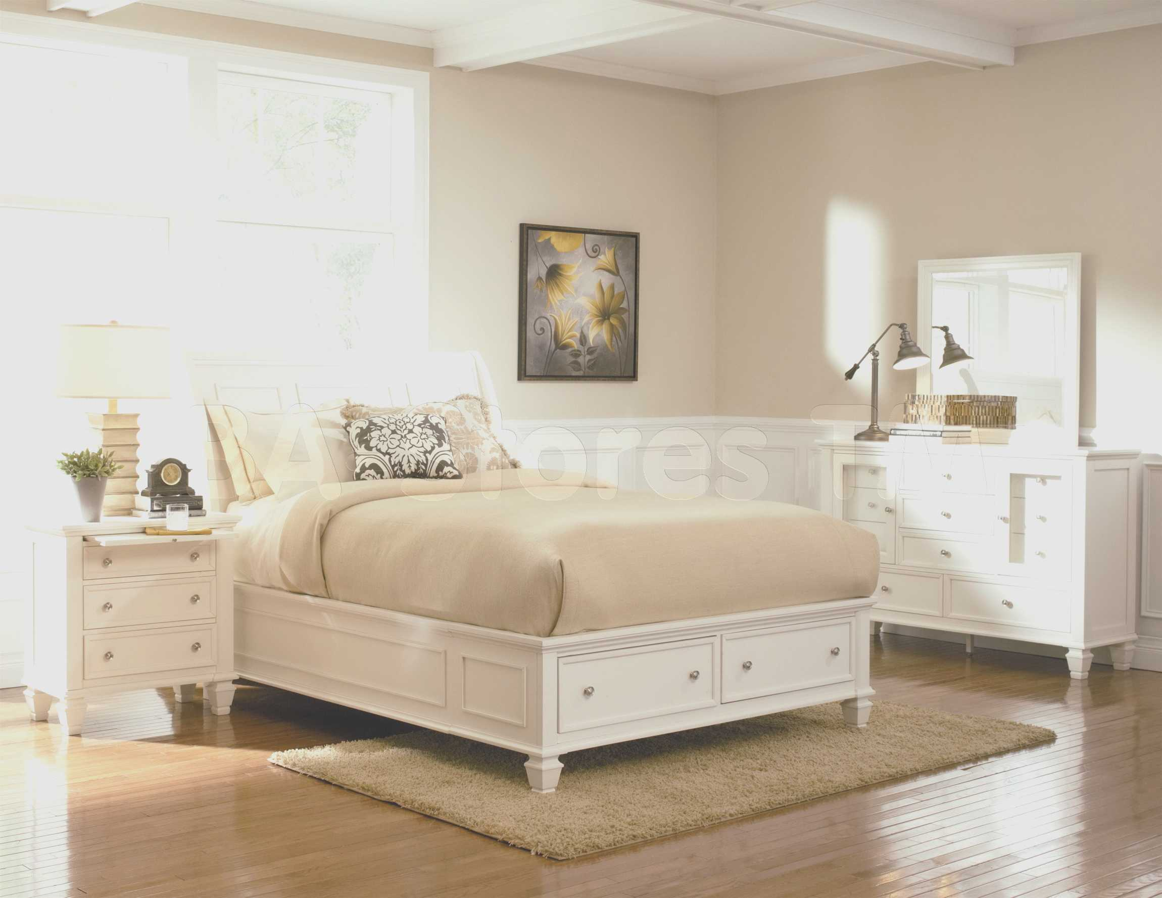 blue and white bedroom furniture photo - 8