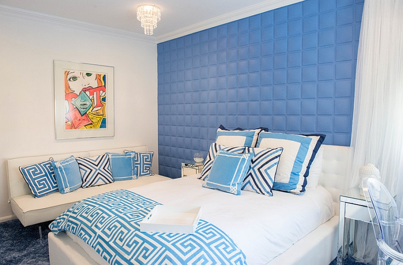 blue and white bedrooms designs photo - 7