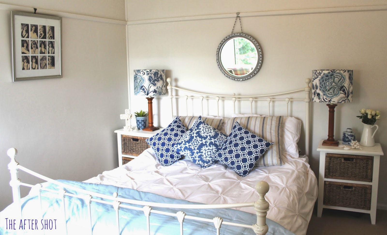 blue and white coastal bedrooms photo - 6