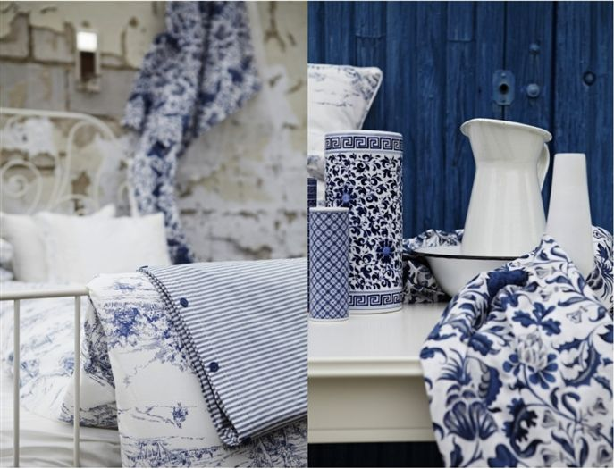 Blue And White French Country Bedroom Photo   5