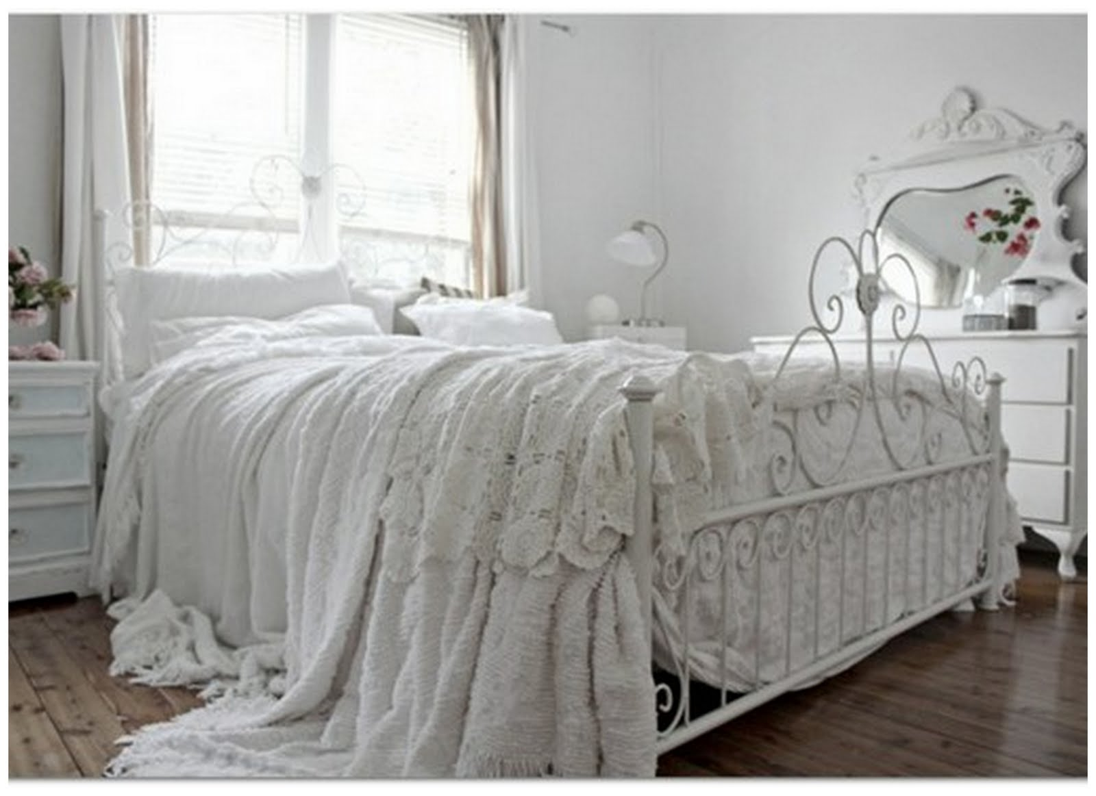Blue And White Shabby Chic Bedrooms Photo   9
