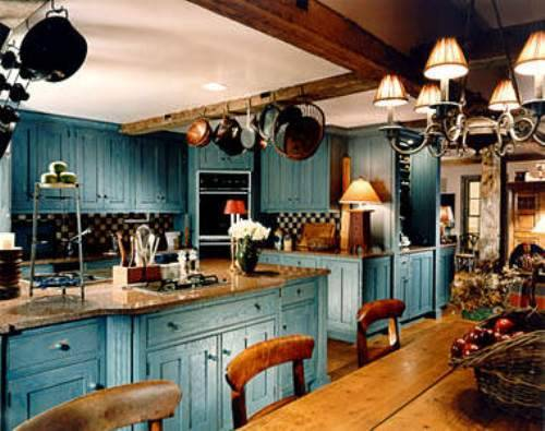 blue country kitchen designs photo - 5 & Blue country kitchen designs | Hawk Haven