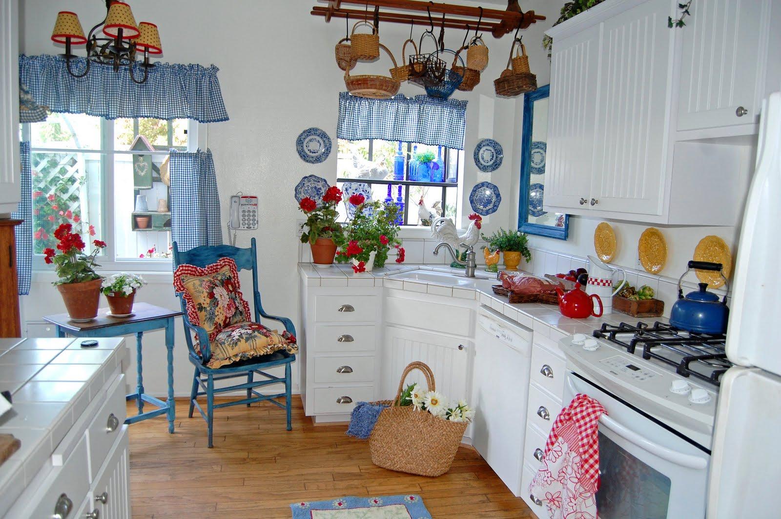 Blue Country Kitchen Designs Hawk Haven