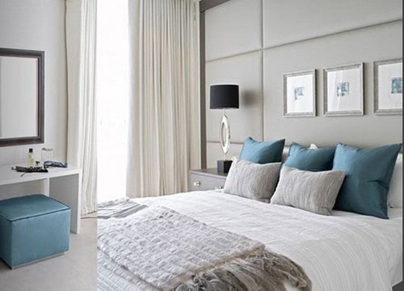 Blue Grey Bedroom Decorating Ideas Photo 5