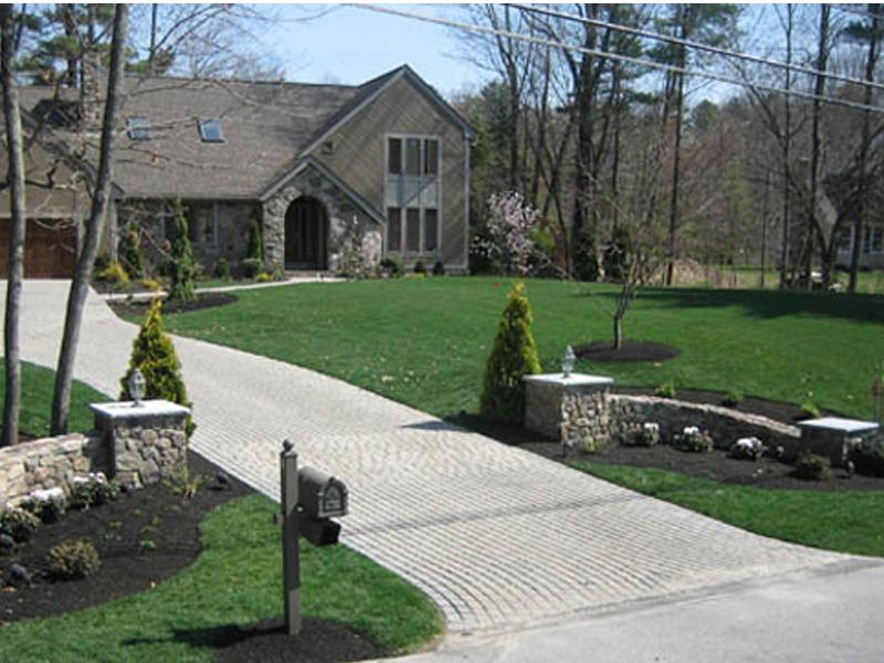 brick entrance designs driveway photo - 1