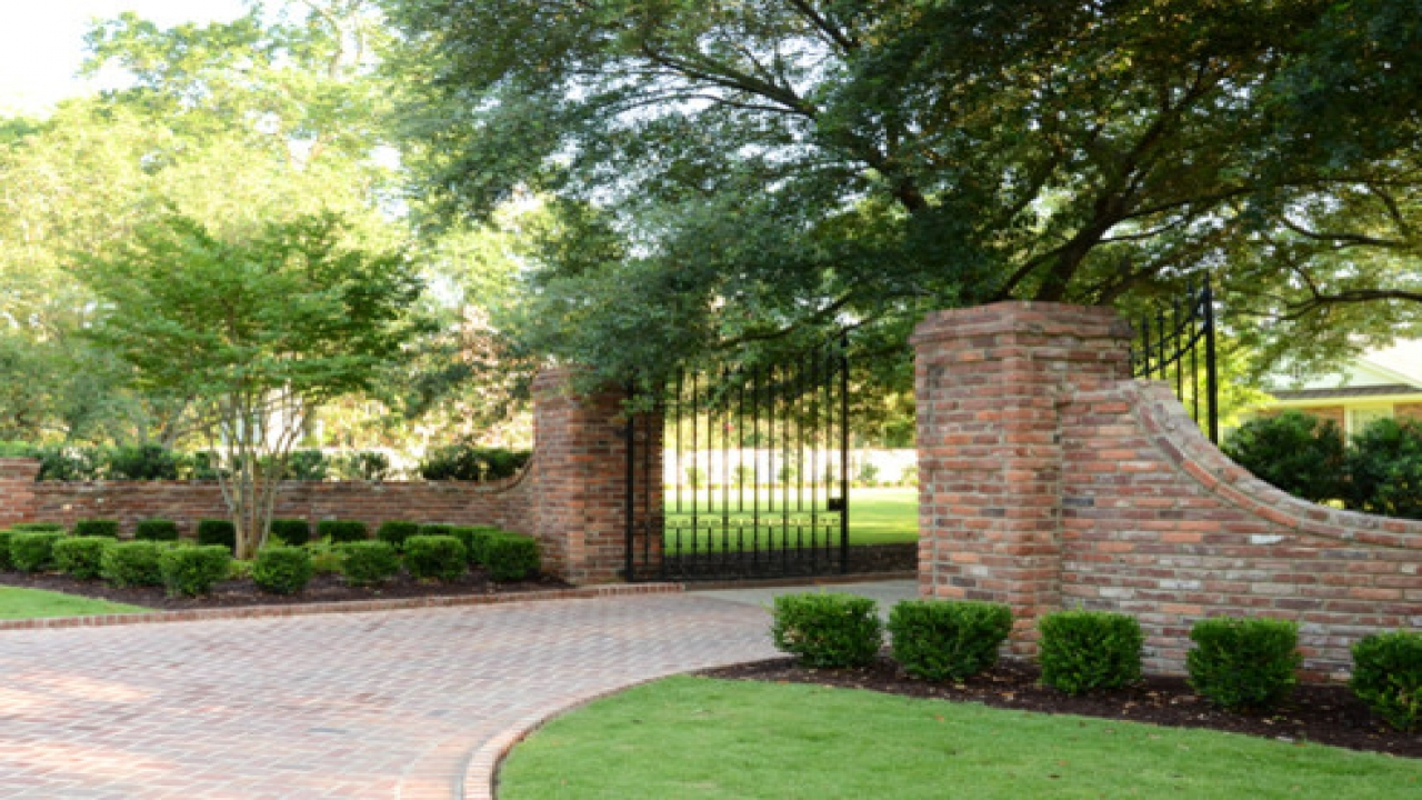 brick entrance designs driveway photo - 4