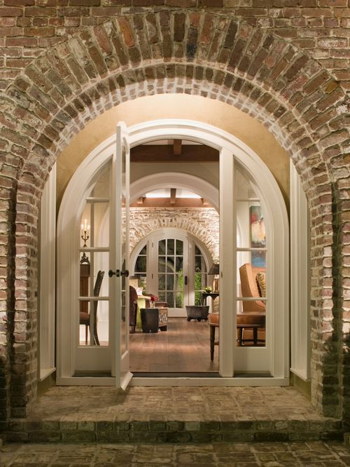 brick front entrance designs photo - 2