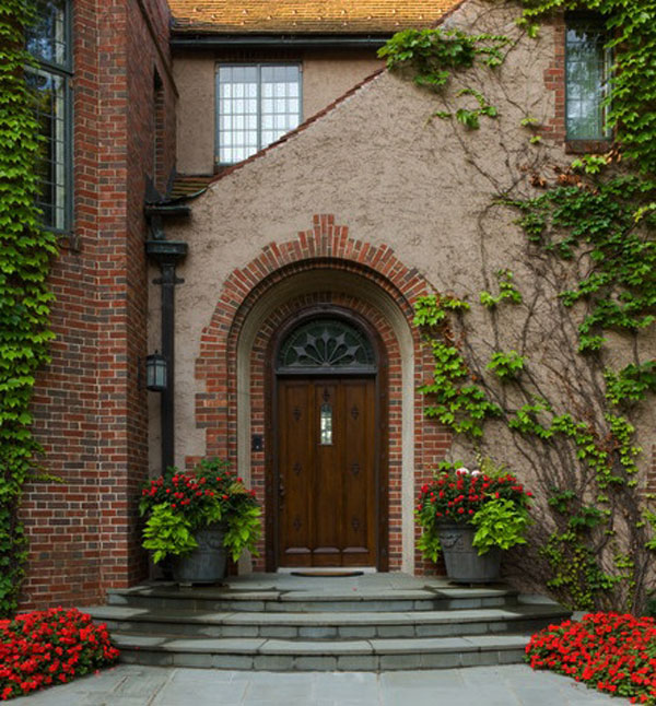 brick front entrance designs photo - 4