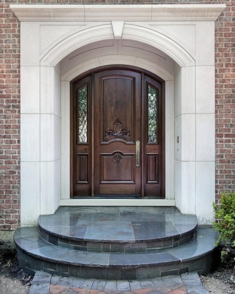 brick front entrance designs photo - 7