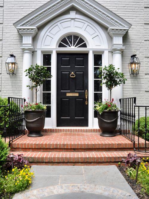 brick front entrance designs photo - 8