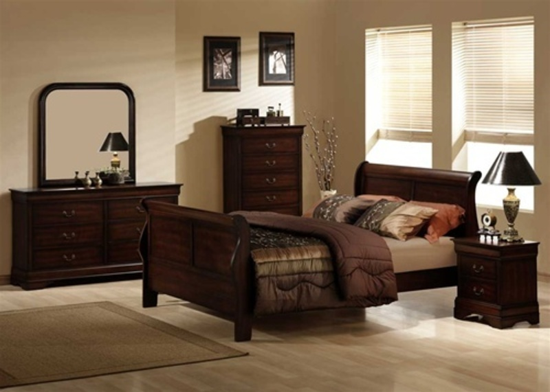 brown bedroom furniture decorating ideas photo - 1