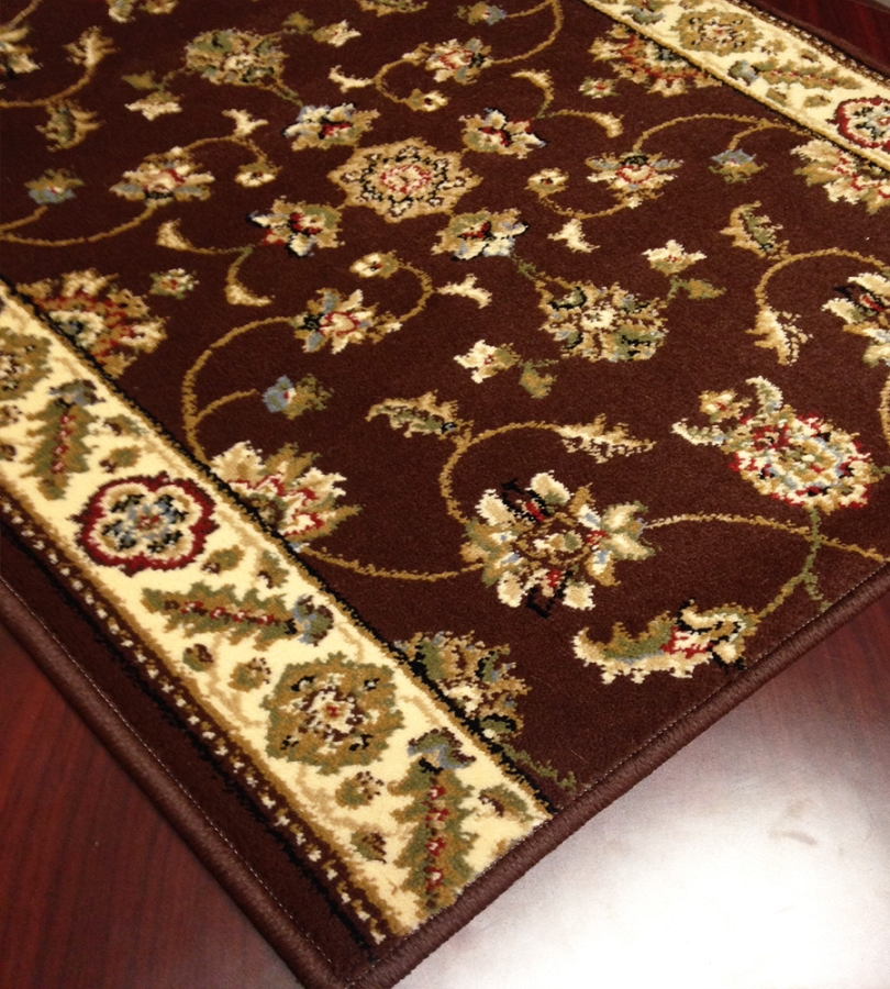 brown carpet runner for stairs photo - 10