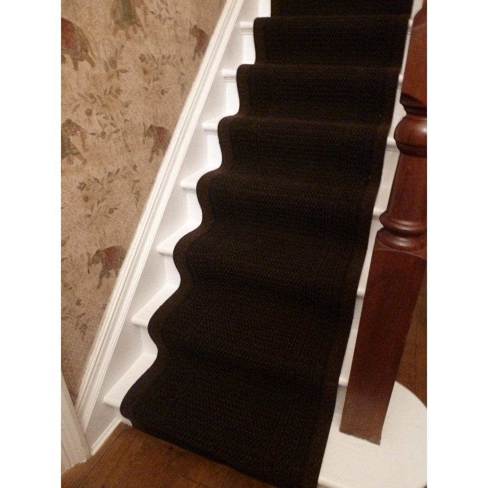 brown carpet runner for stairs photo - 7