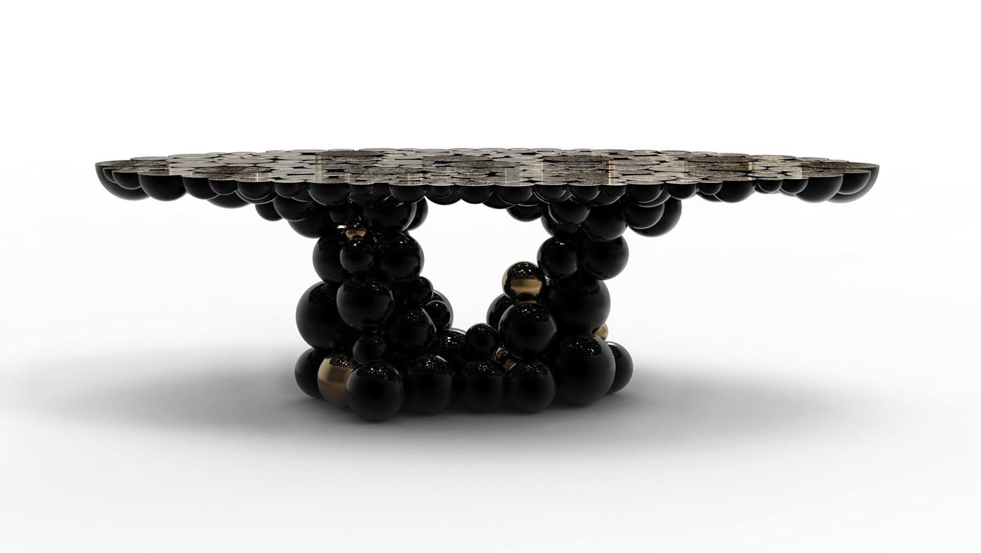 bubbles black sofa table photo - 2