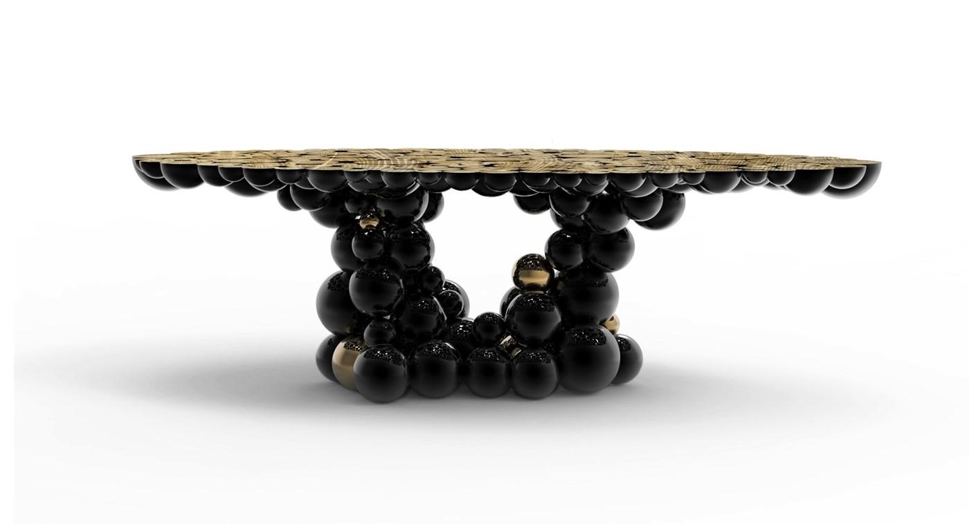 bubbles black sofa table photo - 4