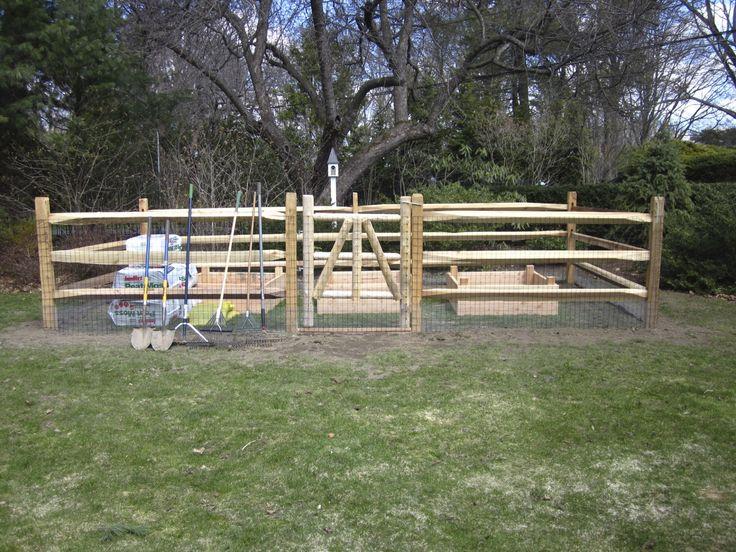building a vegetable garden fence photo - 9