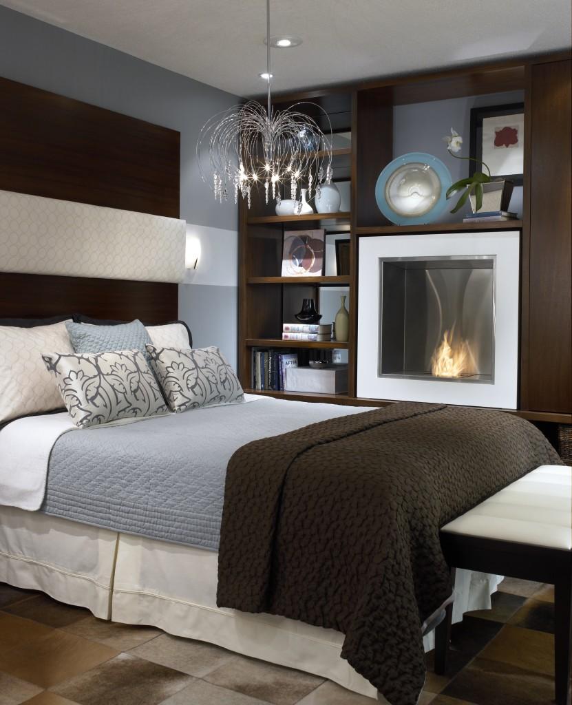 candice olson bedroom fireplace photo - 3