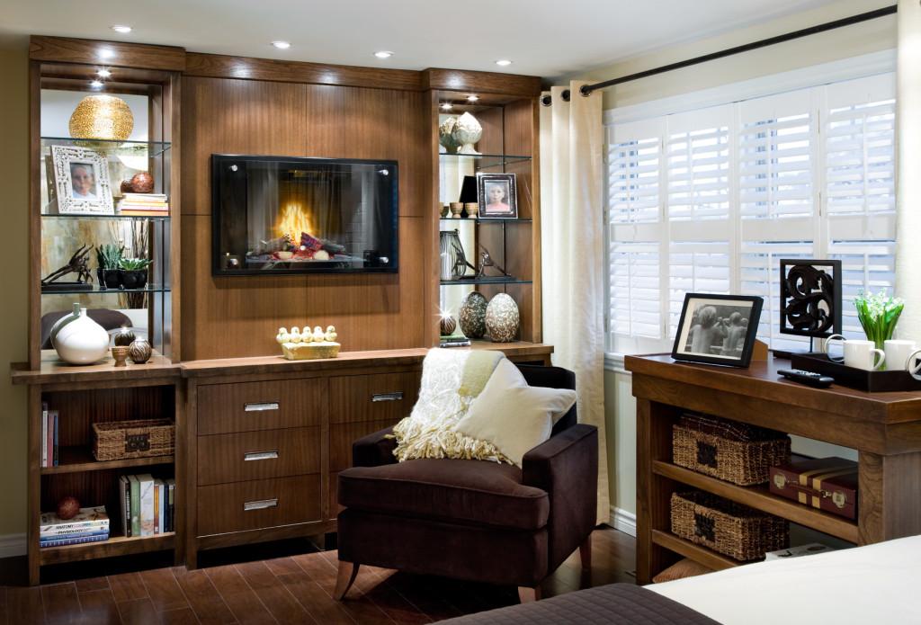 candice olson bedroom fireplace photo - 9