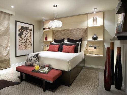 candice olson contemporary bedroom photo - 9
