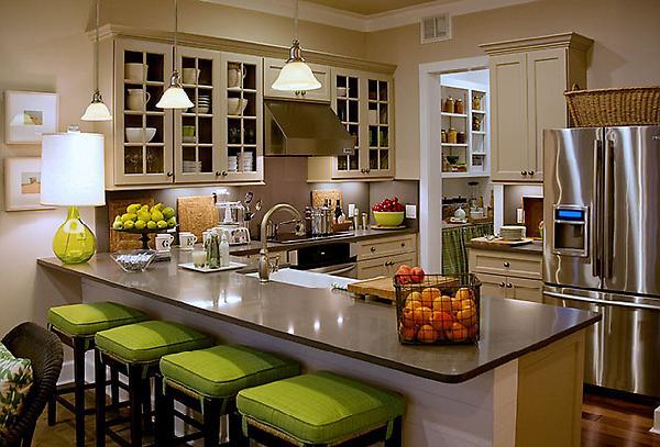 candice olson green kitchen photo - 1