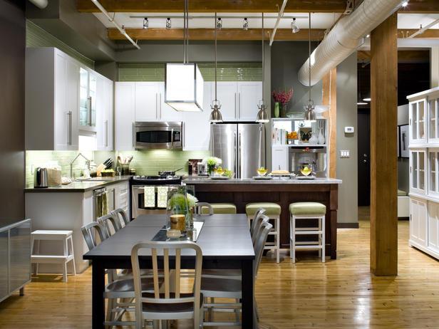 candice olson green kitchen photo - 2