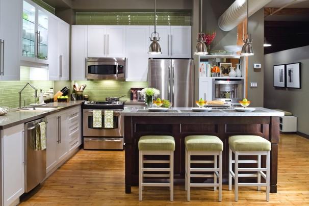 candice olson green kitchen photo - 4
