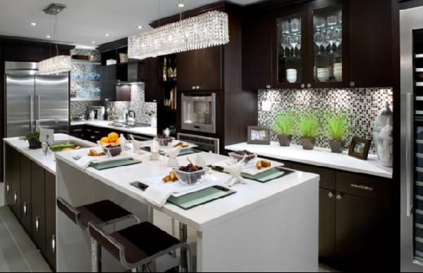 candice olson grey kitchen photo - 9
