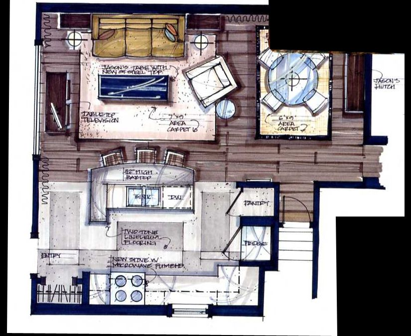candice olson kitchen floor plan photo - 3