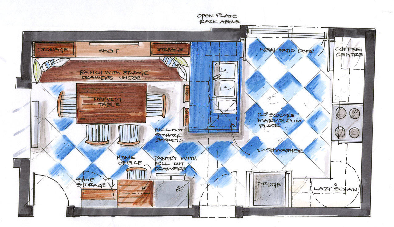 candice olson kitchen floor plan photo - 9