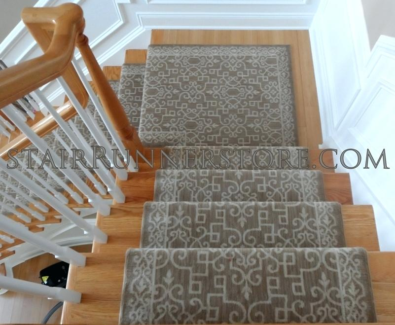 carpet runner for stairs with landing photo - 3
