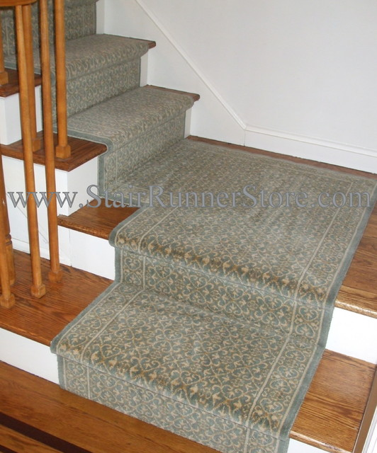 carpet runner for stairs with landing photo - 5