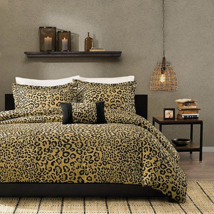 Cheetah Print Bedroom Curtains