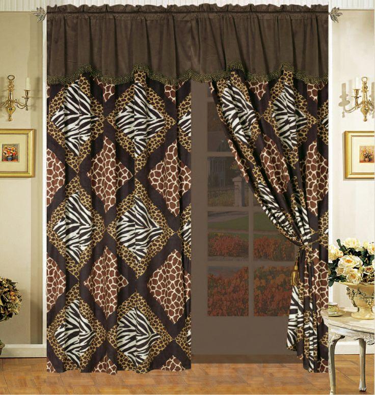 cheetah print bedroom curtains photo - 4