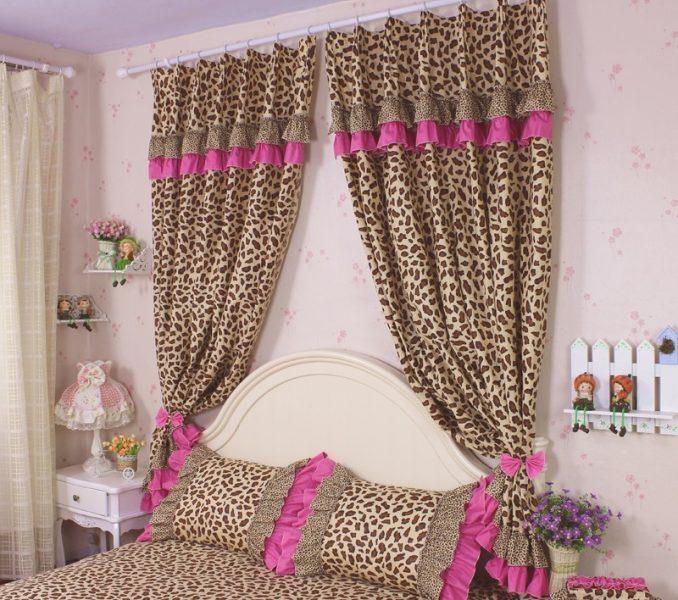 cheetah print bedroom curtains photo - 8