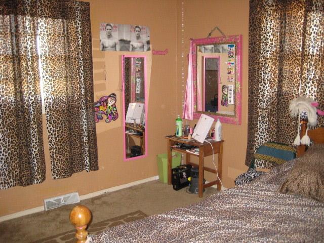 cheetah print bedroom curtains photo - 9