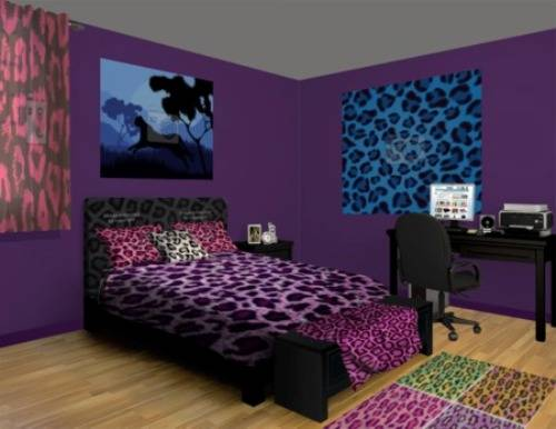 cheetah print bedroom ideas photo - 4