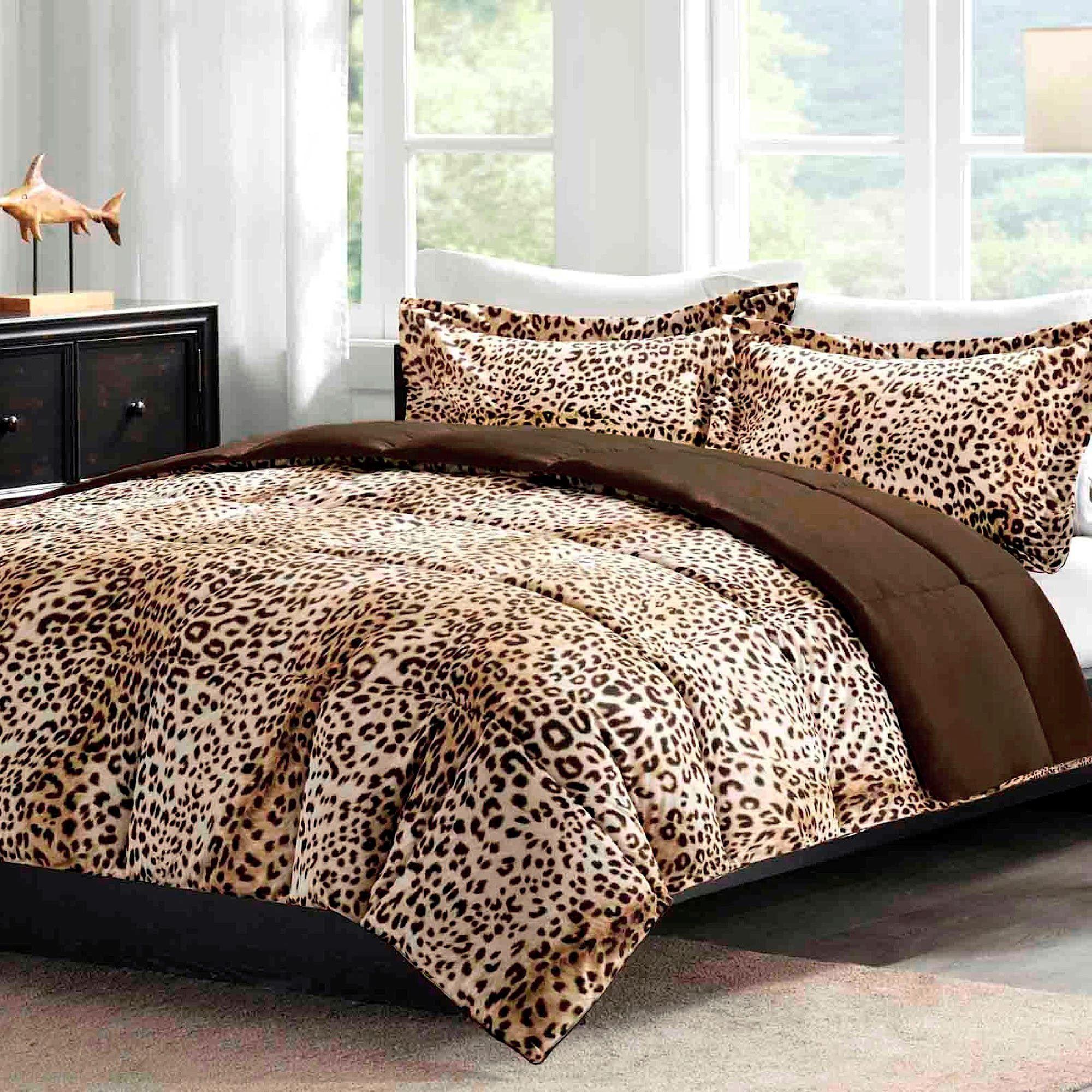 cheetah print bedroom theme photo - 9