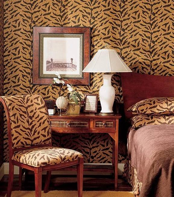 cheetah print bedroom wallpaper photo - 1