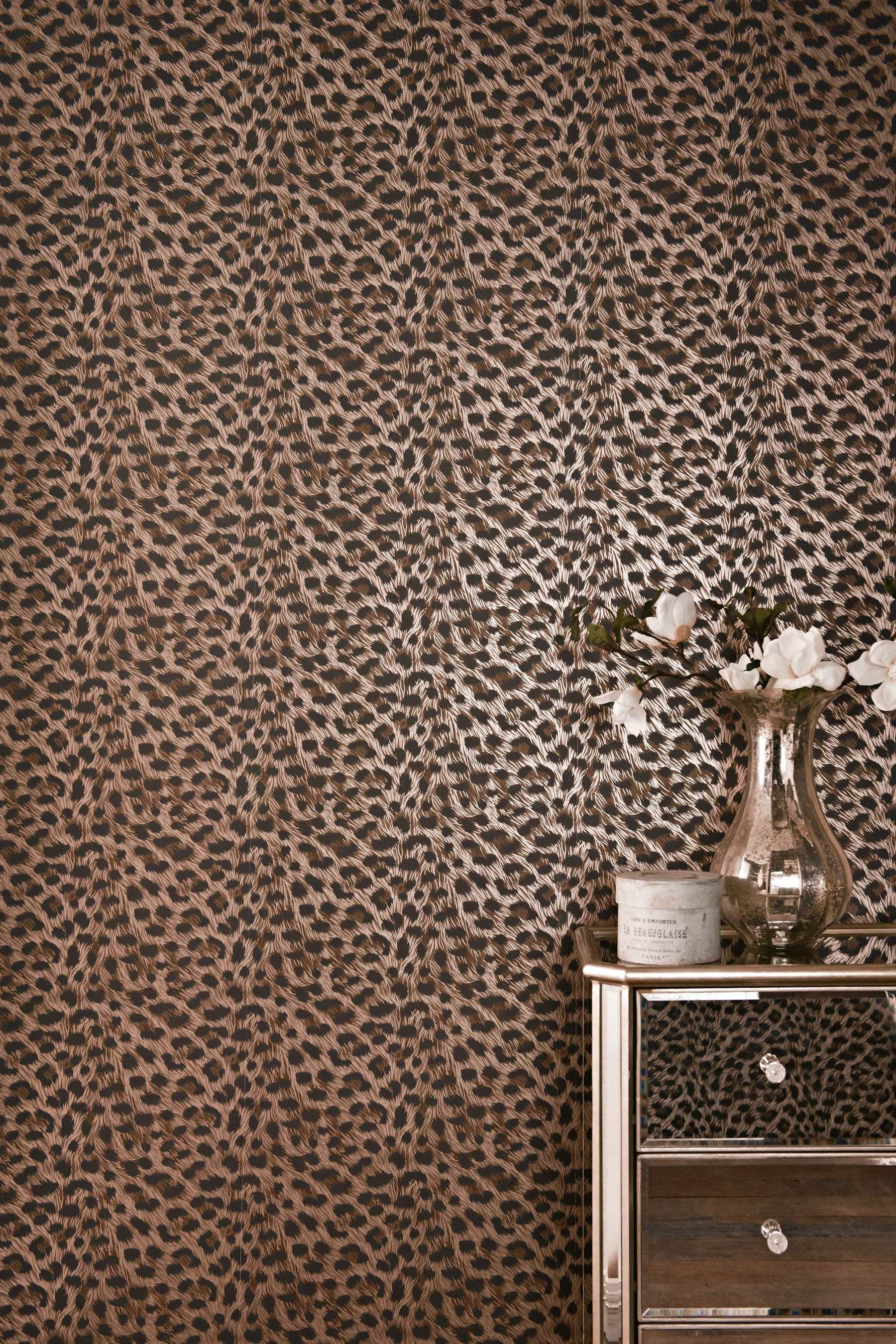 cheetah print bedroom wallpaper photo - 3