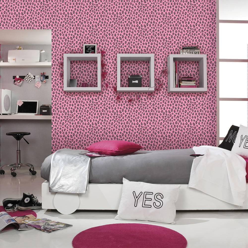 cheetah print bedroom wallpaper photo - 9