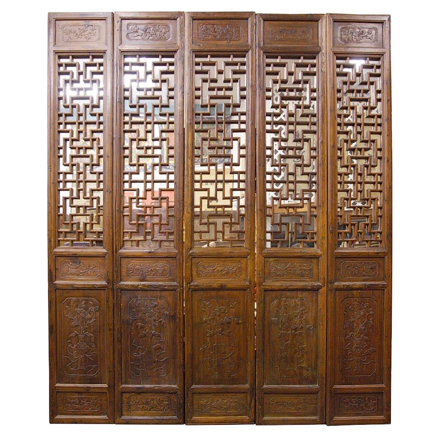chinese wooden room dividers photo - 1
