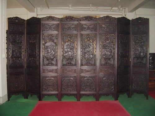 chinese wooden room dividers photo - 10