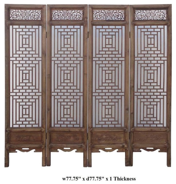 chinese wooden room dividers photo - 3