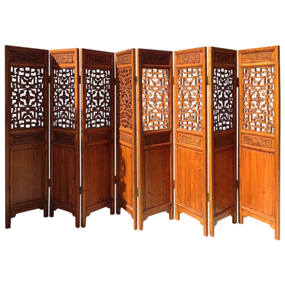 chinese wooden room dividers photo - 4