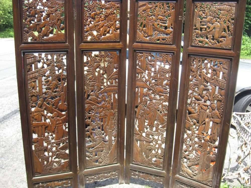chinese wooden room dividers photo - 5