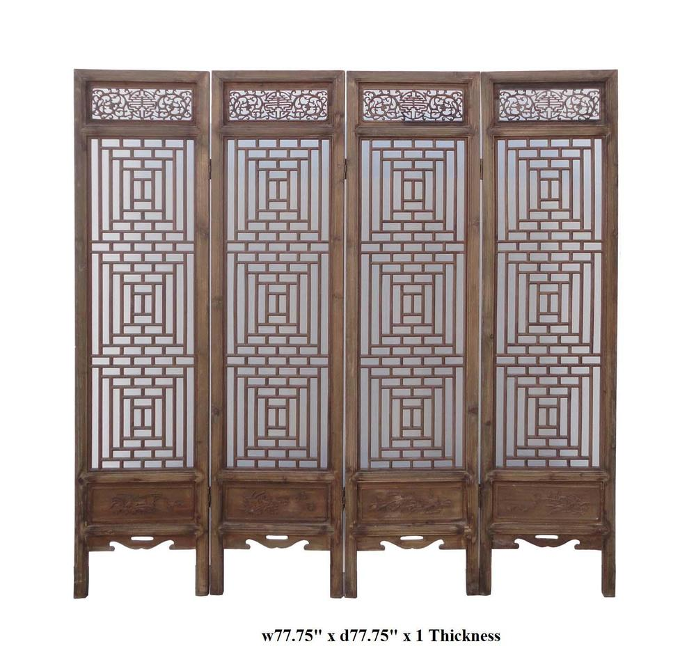 chinese wooden room dividers photo - 9